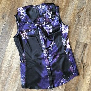 T. Tahari purple and black dress tank
